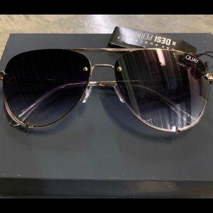 Quay and Desi high key mini black fade sunglasses